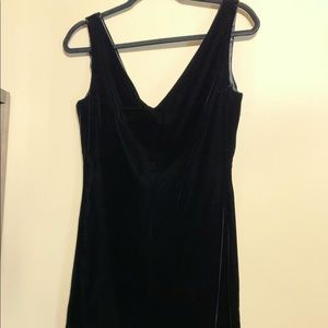 Ann Taylor Black Velvet Cocktail Dress
